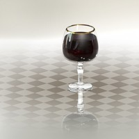 3d solidworks glass wine model