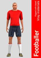 3d football ball model