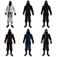 3d pack rigged ninjas