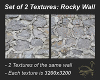 Set of 2 Textures: Rocky Wall