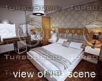 3d model of modern bed