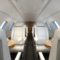 3d model airplane interior