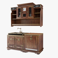 3d model furniture kitchens cabinets