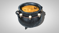witch caldron 3d c4d