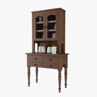 furniture kitchens style cabinets 3d model