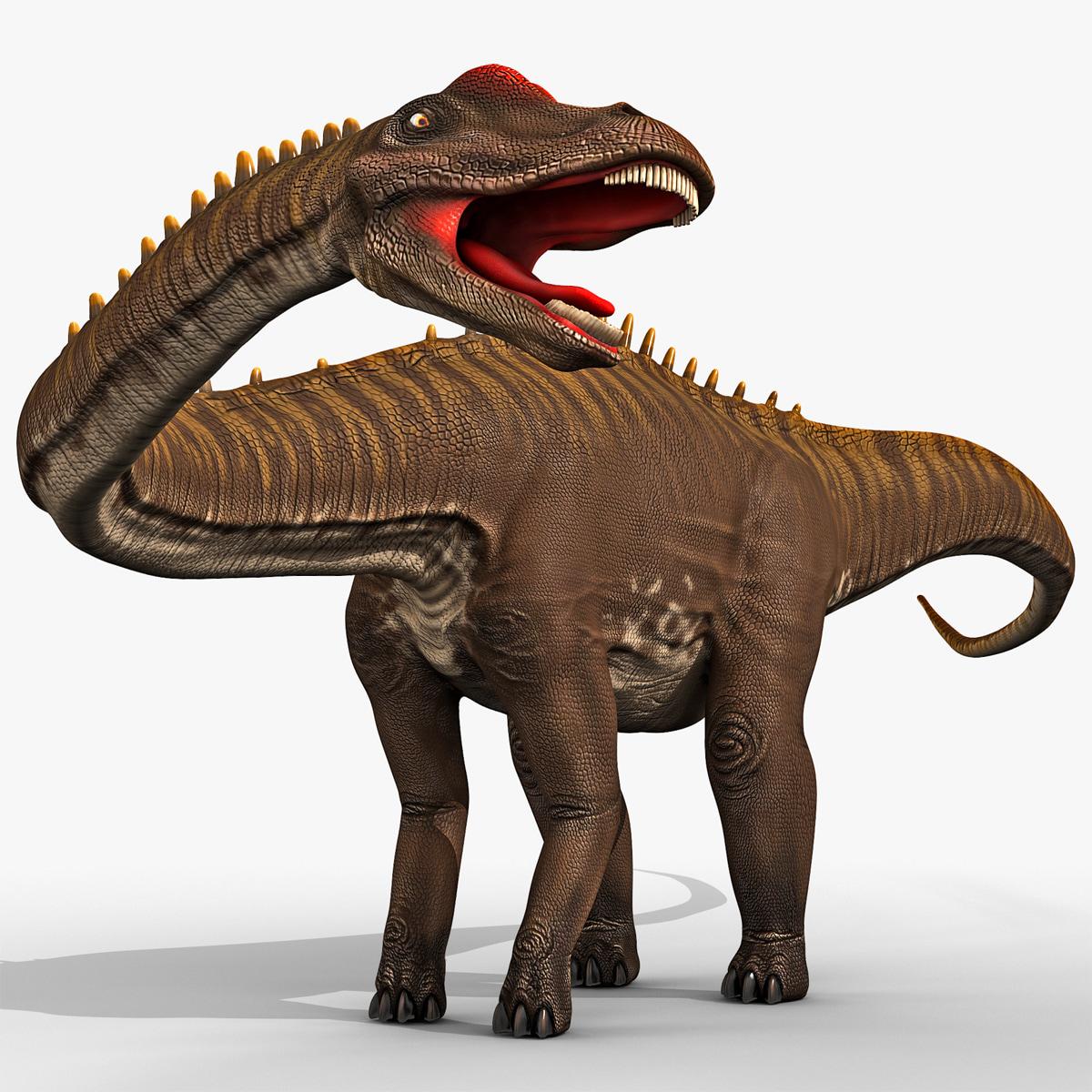 Diplodocus And Kentrosaurus Models: 3d Model Diplodocus Rigged