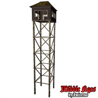 3d model wooden tower type