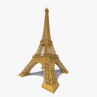 eiffel tower 3d max