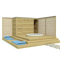 3d outdoor jacuzzi model