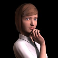 3d realistic female dianna office