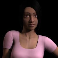 female girl realistic 3d model