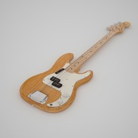 3d model fender precision bass guitar