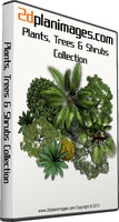 2d Floorplan Plants, Trees & Shrubs Collection Overhead & topdown views
