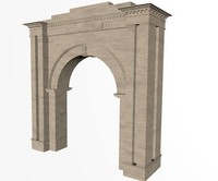3d decorative archway model