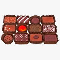 3dsmax chocolates set