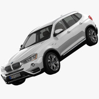 bmw x3 xline suv 3d model