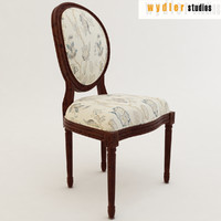 3d model louis xv chair
