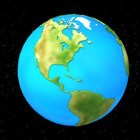 3d model cartoon earth
