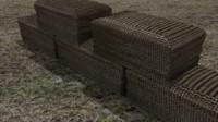 maya sand bag barricade