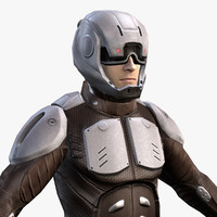 sci-fi armor male character 3d model