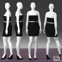 size woman mannequin 3d model