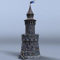 maya medieval castle tower