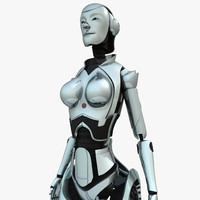 3d android woman model