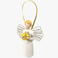angel ornament 3d 3ds