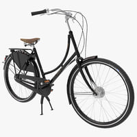 azor european city bicycle 3ds