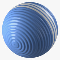 3d model of croquet ball