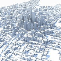 3d model of city huge