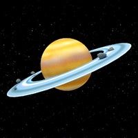 cartoon saturn 3d 3ds