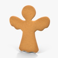gingerbread cookie angel 03 3d max