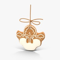 3d gingerbread cookie angel model