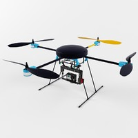 3d model lotusrc t580 quadcopter