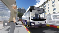 3d man lions city bus model