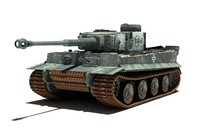 3d tank tiger pzvi ausfh1 model