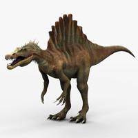 3d max spinosaurus dinosaur animation