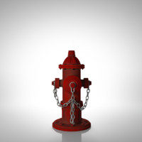 3d model firehydrant modeled