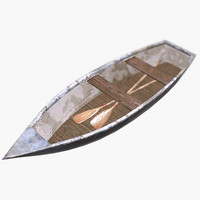 3d boat paddles - model