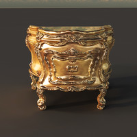 3d gold royal desk model