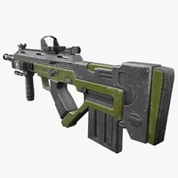 3ds max f3000 assault rifle