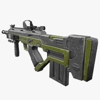 3ds max f3000 assault rifle