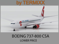 3d model airplane boeing 737-800 csa