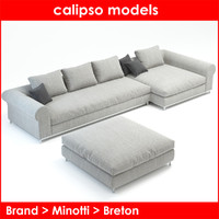 3d category breton sofa model
