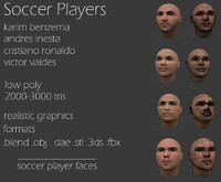 soccer players faces