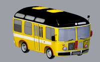 3d model cartoon bus