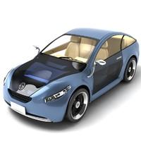 3d model future car