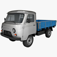 uaz 452d truck vehicle 3d model
