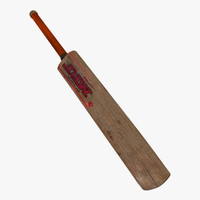 3d model bat old cricket used